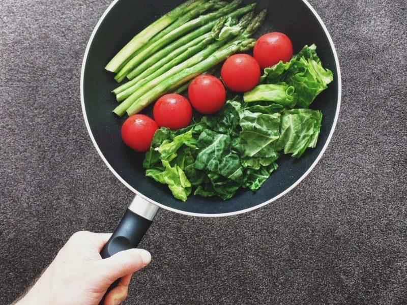panvica so zeleninou