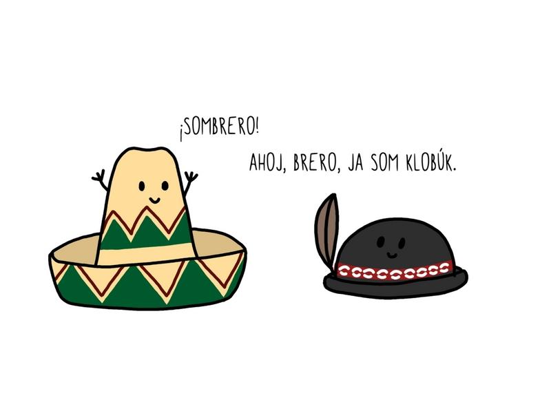 sombrero - ilustrácia