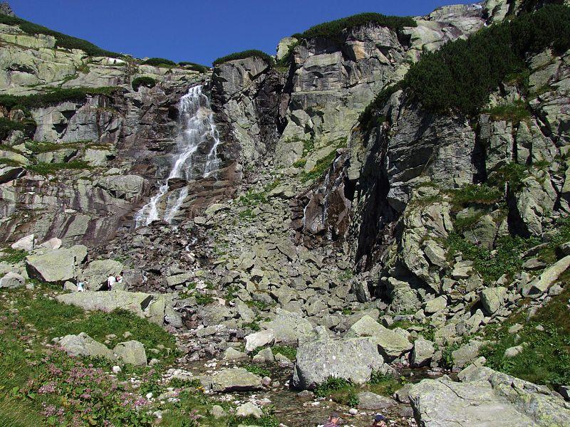 tatranský vodopád skok