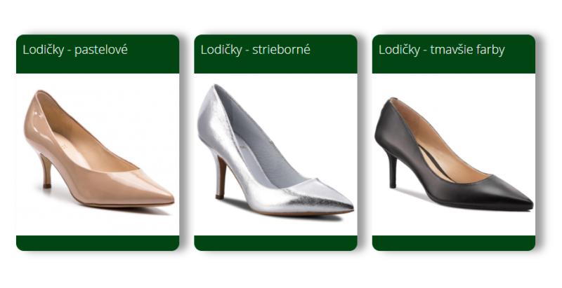 Elegantná obuv na ples